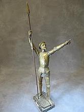 Lucien Charles Edouard ALLIOT (1877-1956) Don Quixote statue