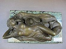 Old nude bronze statue