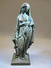Antique European bronze statue
