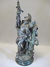Antique French spelter statue by Hip. MOREAU
