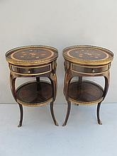 Antique French pair of Louis XV side tables