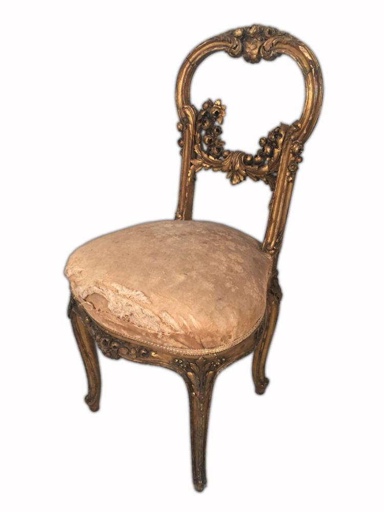 Pair of french louis xv gilt chairs for Furniture auctions uk