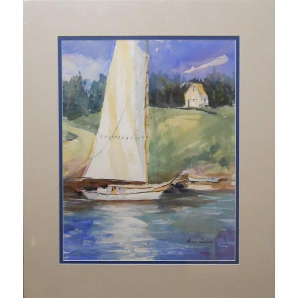 Plein Air Sailing Watercolor By Angelina Wood