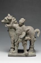 A Model of Horse and Groom, Yuan Dynasty
