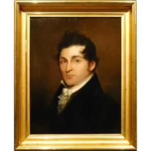 Oil Portrait of a Handsome Young Man, c.1840