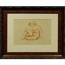 Aristide Maillol: Seated Female Nude, Lithograph c. 1935