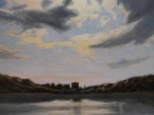 Sunset Marine Oil Painting By Robin Wessman