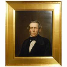 American Antique Oil Portrait Of A Man c.1840