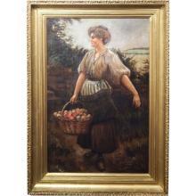 Apple Picker Oil Painting By Gottsdanker