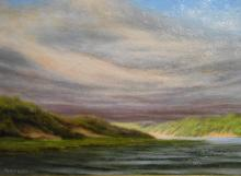 Cape Cod Dunes Oil Painting By Robin Wessman