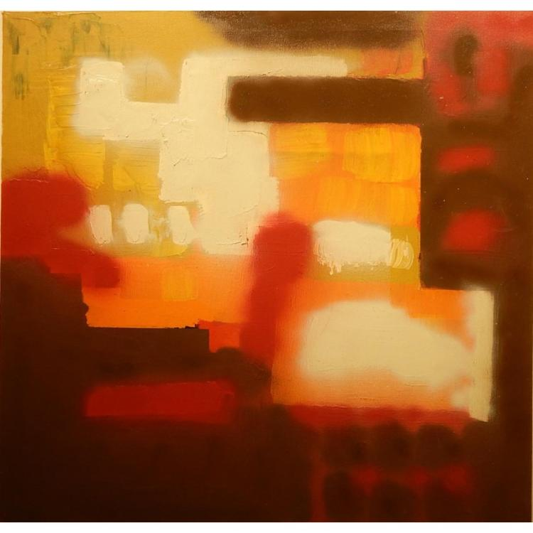 1980's Abstract Oil Painting 36