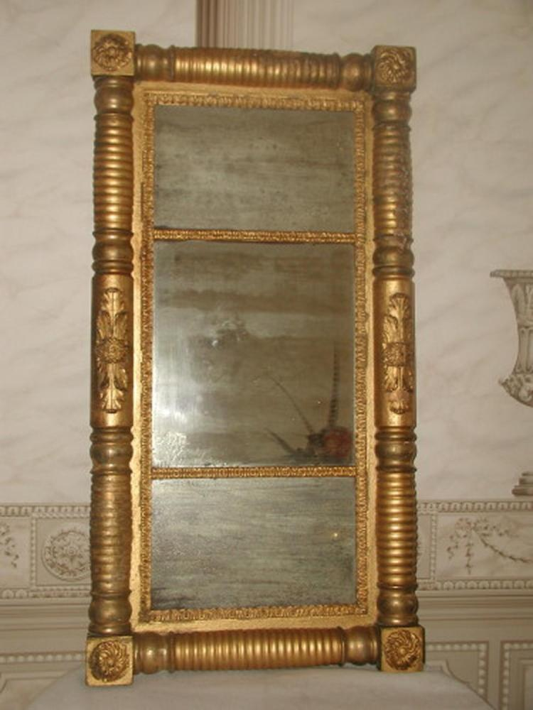 Federal Gilt Mirror England Early 1800's Original Mirror