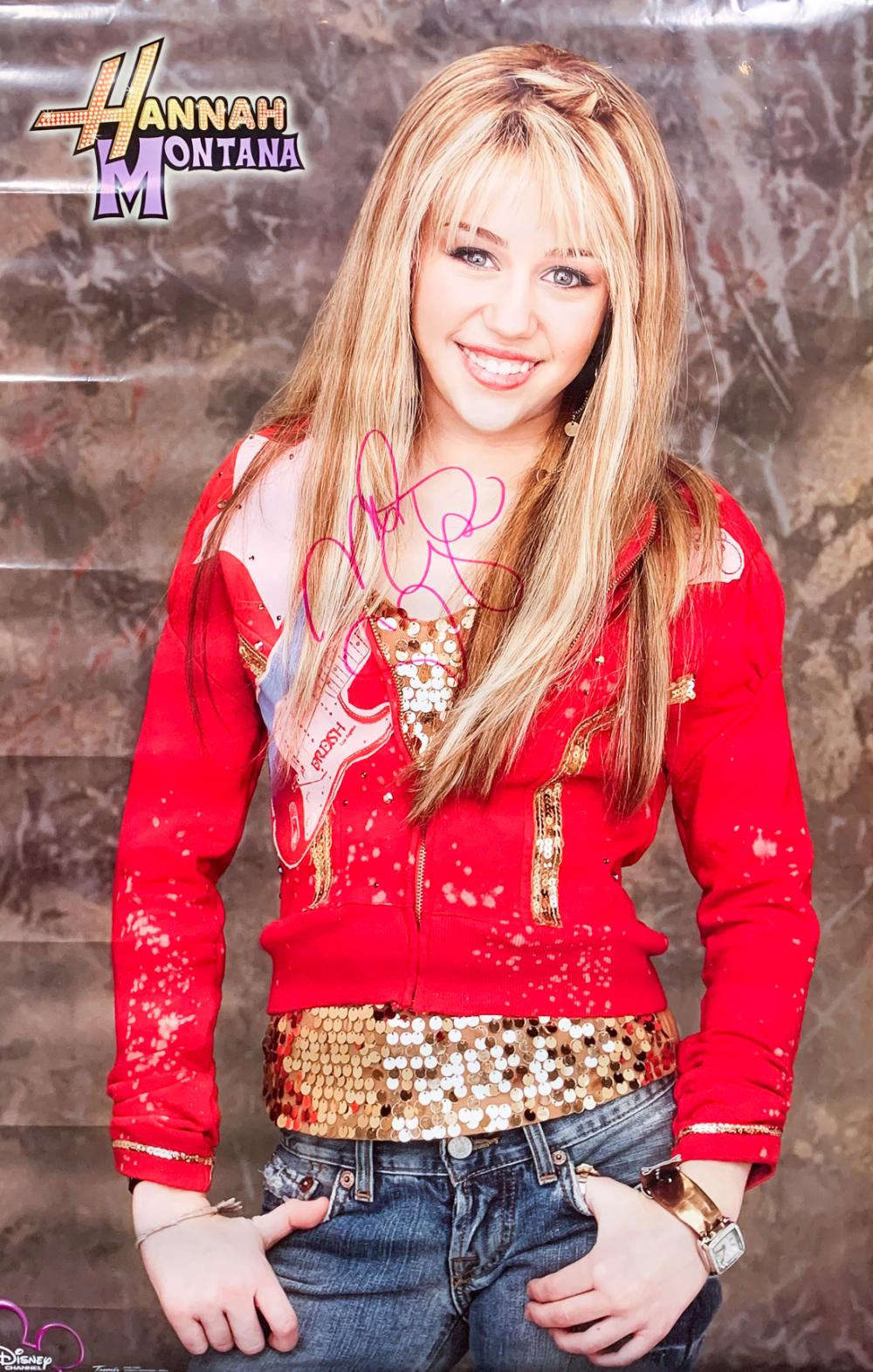 Hannah Montana Signed Poster