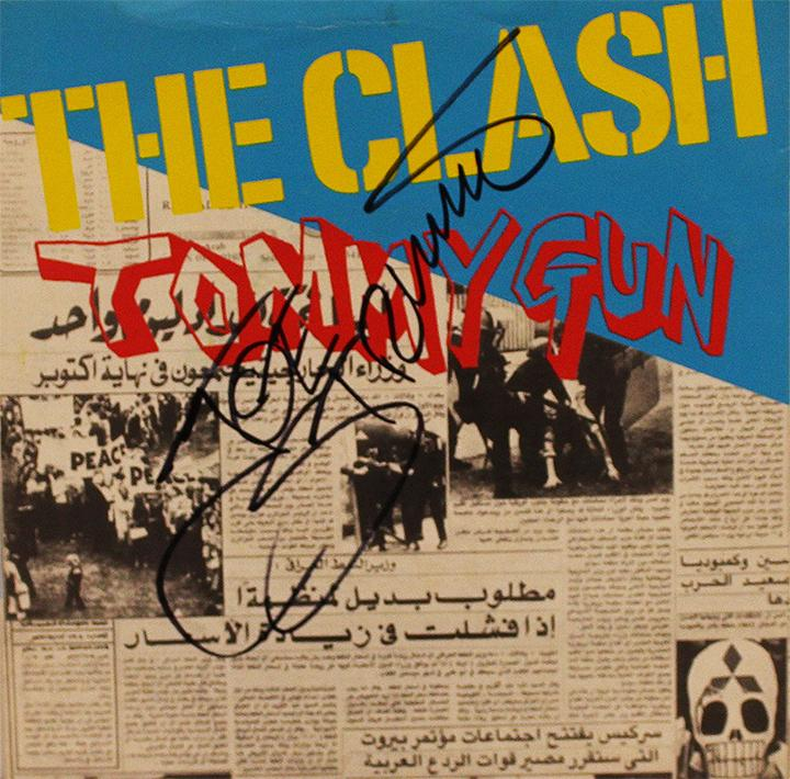 The clash the late joe strummer signed tommy gun 45 re for Late 90s house music