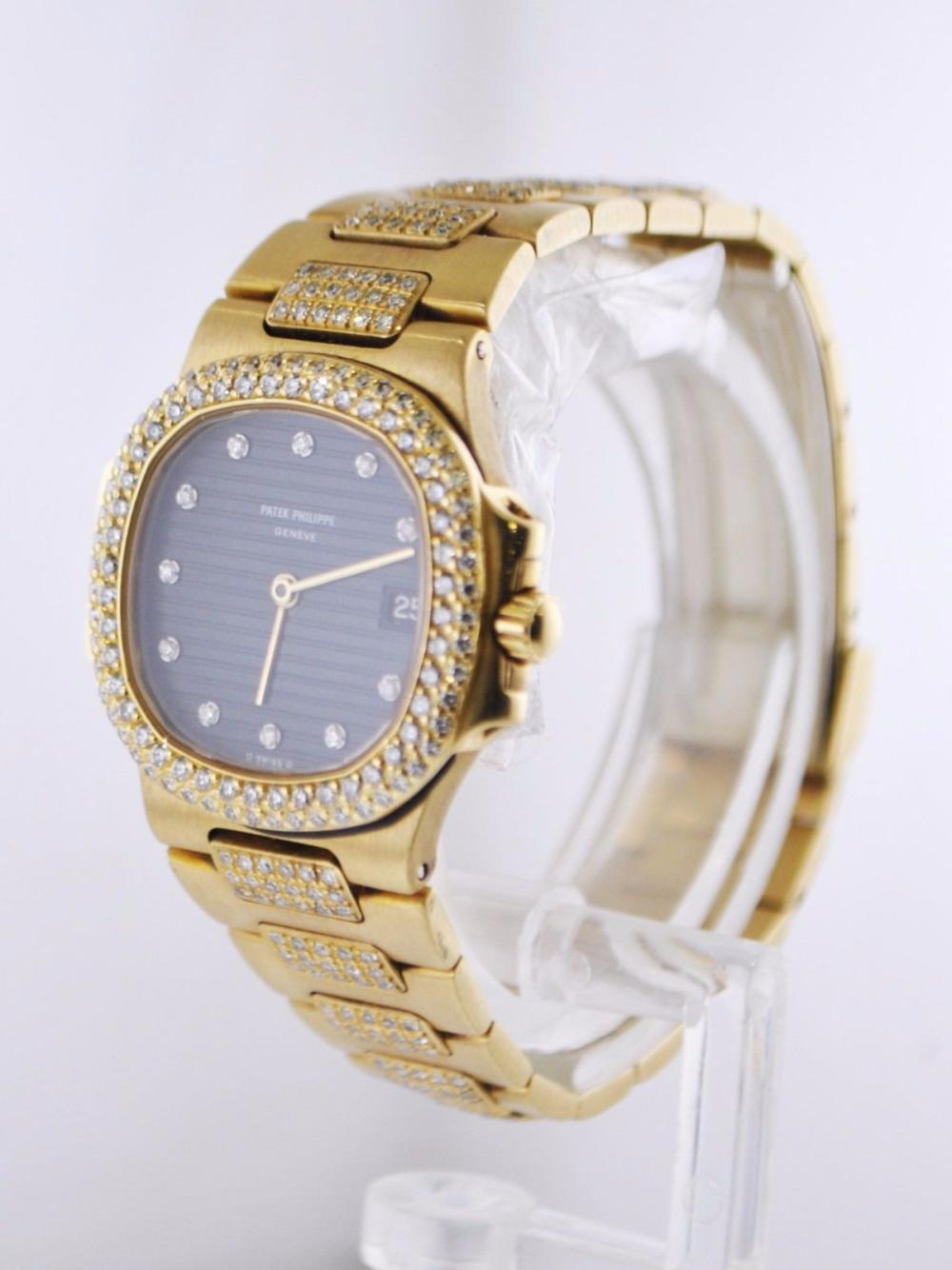 Patek Philippe Nautilus Factory Diamond Lady S Wristwatch Da