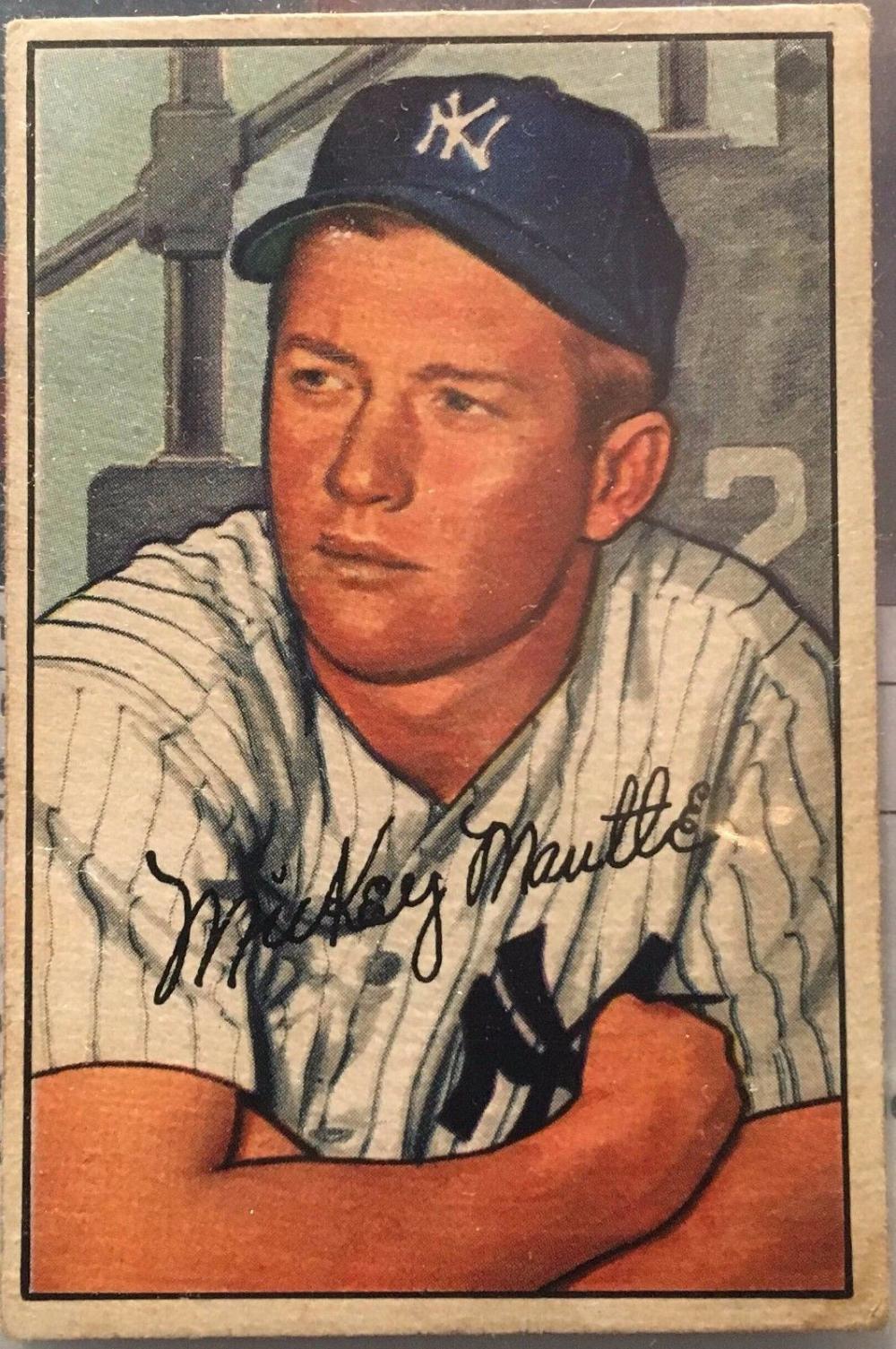 1952 Bowman Mickey Mantle New York Yankees 101 Baseball Card Wcoa App5k