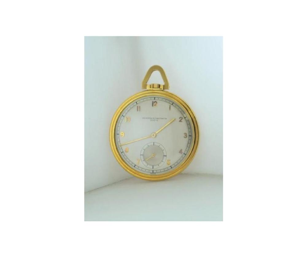 8a86037c6 1950s Vacheron Constantin Pocket Watch Rare Vintage 18K YG $