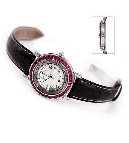 Breguet Marine Hora Mundi baguette ruby set