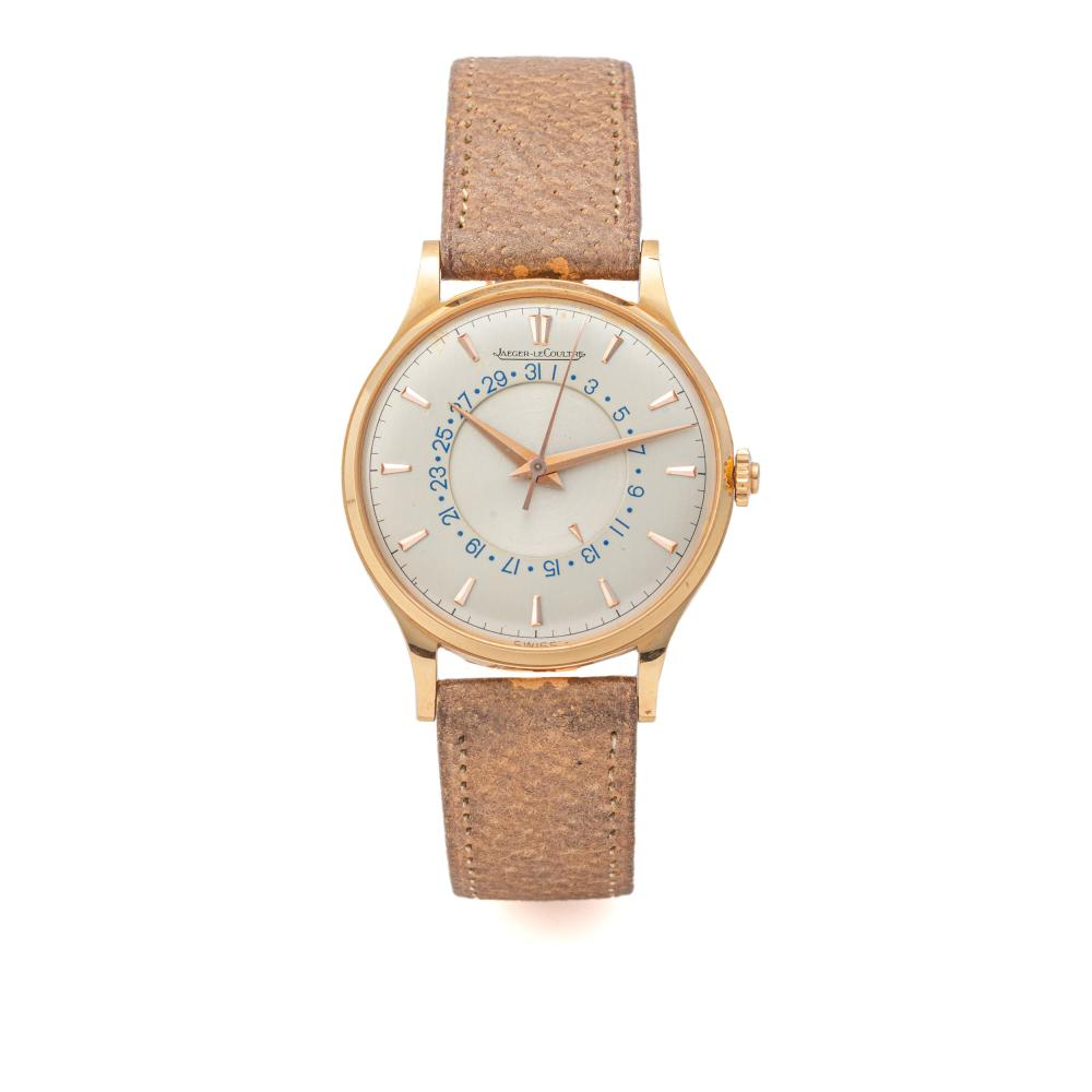 JAEGER LECOULTRE, REF. 2777, BUTTON OPERATED DATE, PINK GOLD