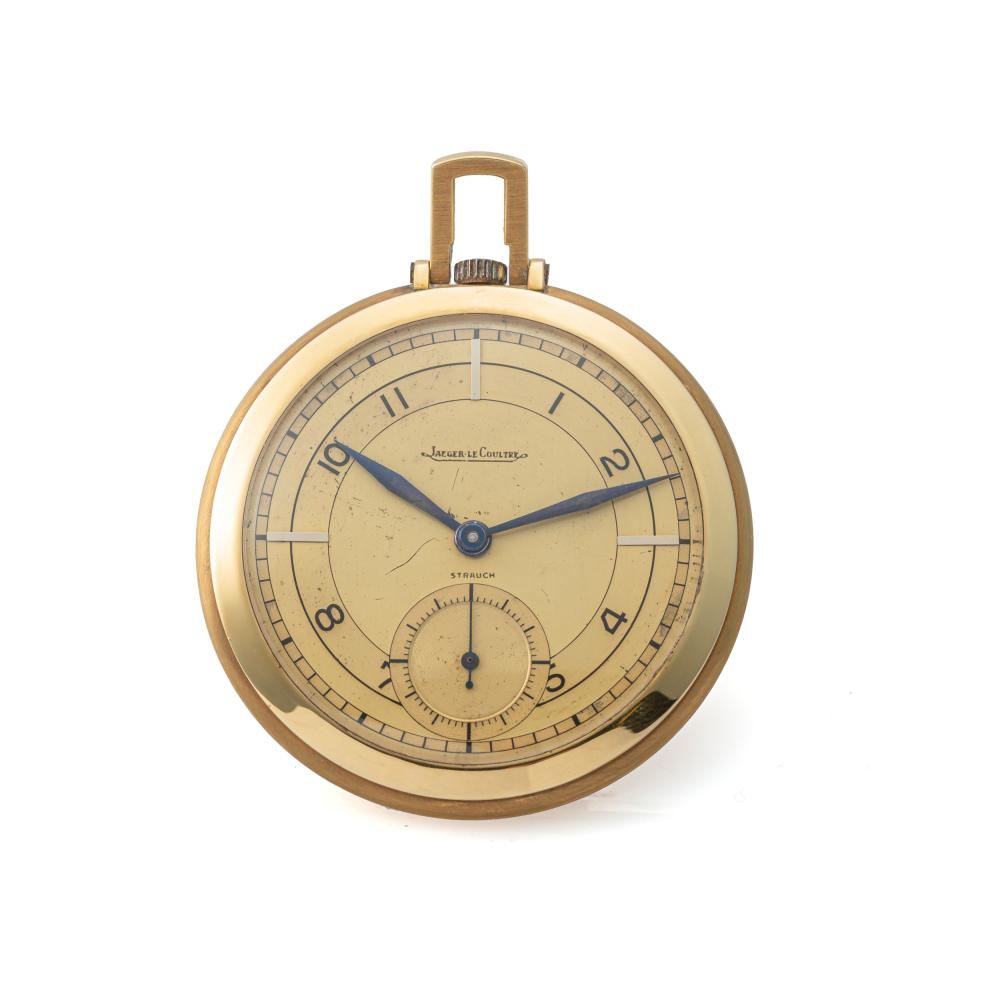 JAEGER LECOULTRE, TWO-TONE DIAL, YELLOW GOLD