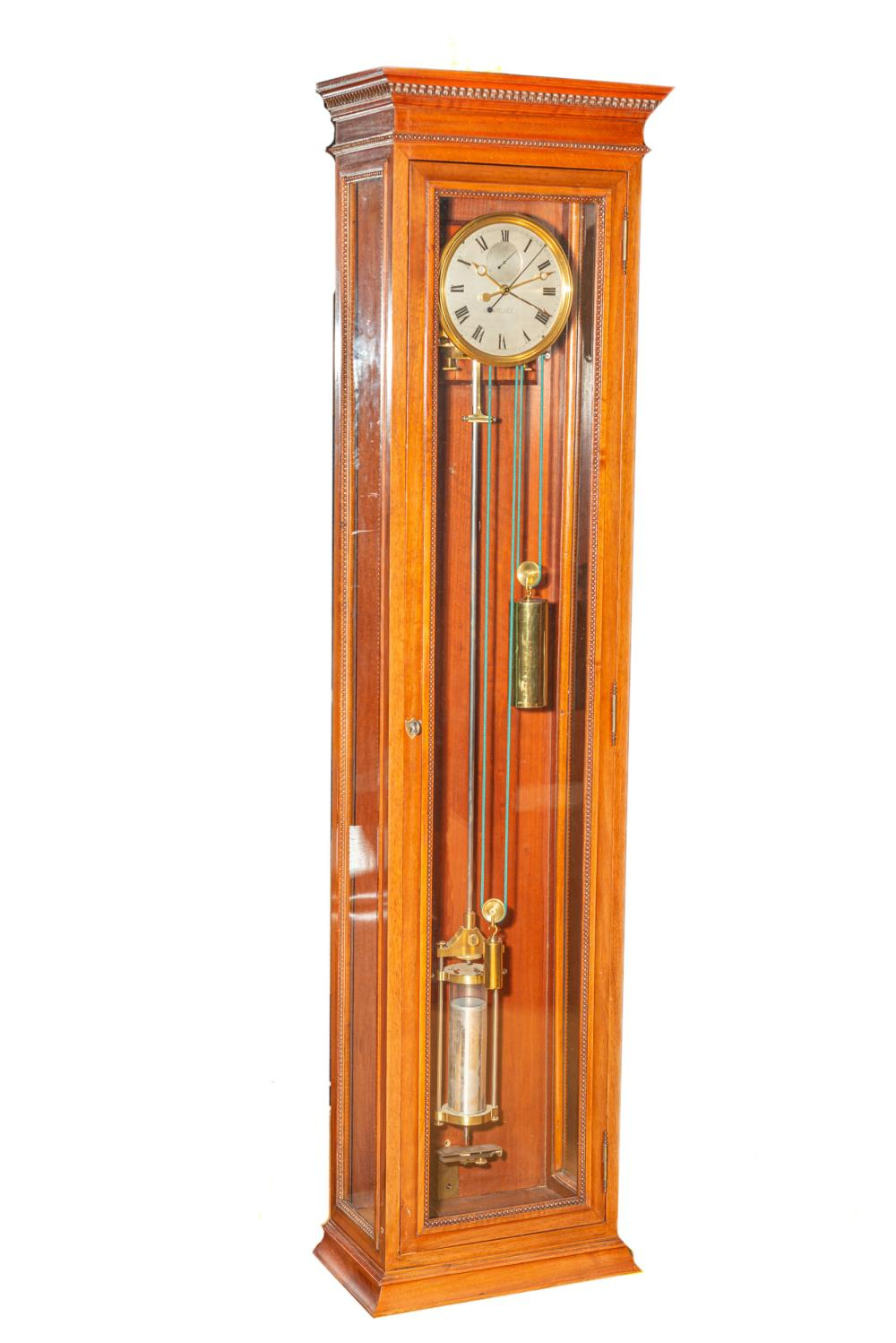 ANATOLE PERÉE - ONE MONTH-GOING PRECISION WALL REGULATOR, DEAD CENTRE-SECONDS, SOLAR EQUATION OF TIME MINUTES AND SECONDS INDICATION; MAHOGANY, GILDED METAL AND GLASS