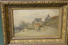 Oil painting on Canvas, signed, Farmer Scene