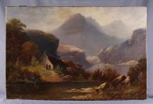 Later 19th Century Large Oil on Canvas