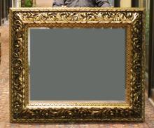 Gilt Wood Mirror, Elebara  Antique