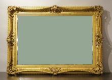 Gilt Wood Framed Mirror, Continental