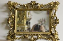 19th C. Gilt Wood Leaf Mirror