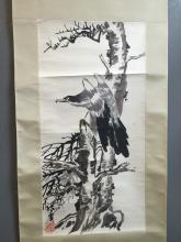 Chinese Painting of ZhangYong, Eagle & Bamboo