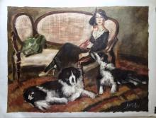 Oil Painting on Canvas, Dogginess Lady