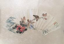 Chinese Fan Painting on Paper, Signed Le,Heshou