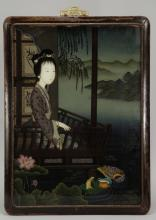 19/29th C. Chinese Reverse Glass Painting