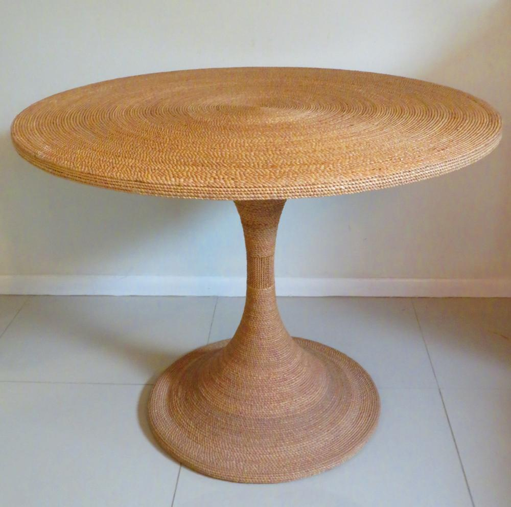 Sold Price Vintage Twisted Sea Grass Round Pedestal Table October 3 0120 4 00 Pm Edt [ 991 x 1000 Pixel ]