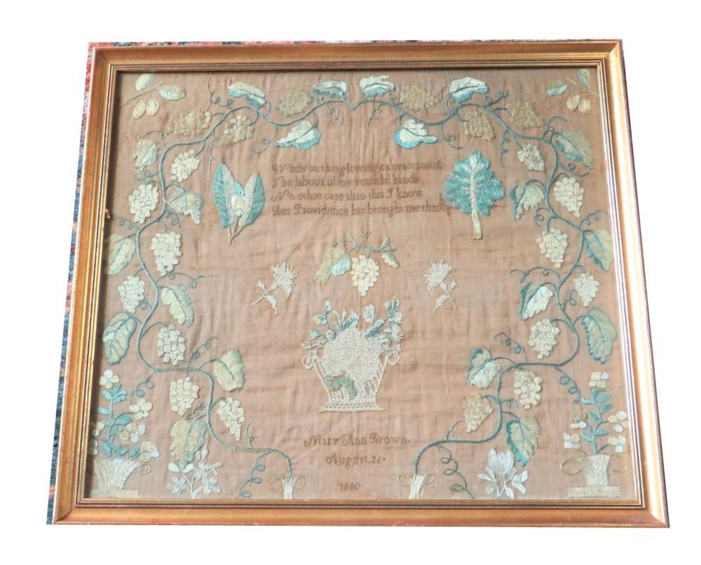 1840 American Sampler