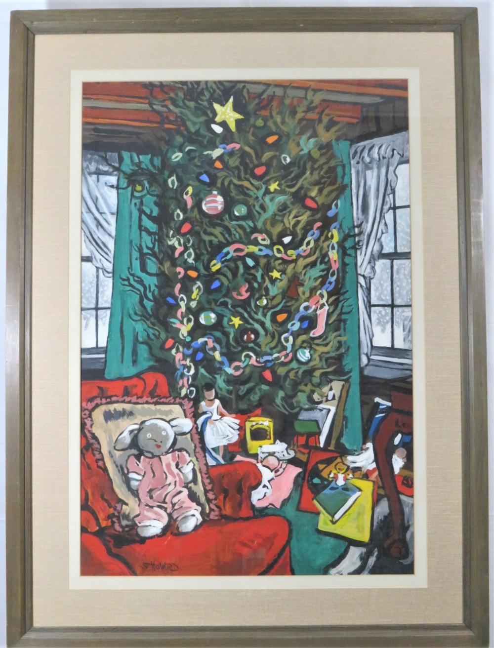 "Stephen Colgate Howard W/C ""Christmas Tree"""