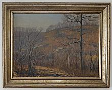 1934 James Perry Wilson O/B Landscape Painting