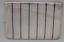 Mappin Webb Sterling Silver & Enamel Cigarette Case