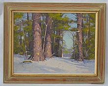 Allen D. Cochran Woodscape Painting