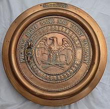Mosler Phoenix State Heavy Bronze Bank Drop Vault Door