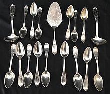 18 Pieces of Jenny Lind Sterling Silver Flatware
