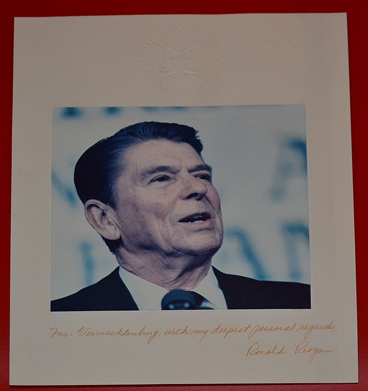 Signed / Autographed Ronald Reagan Picture