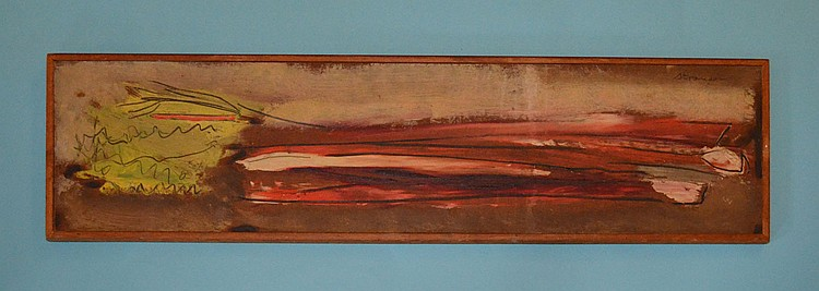 Signed Sterling Strauser Still Rhubarb Painting