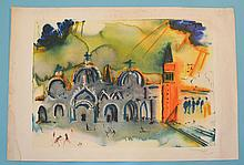 Signed Salvador Dali Hommage to Venice Print