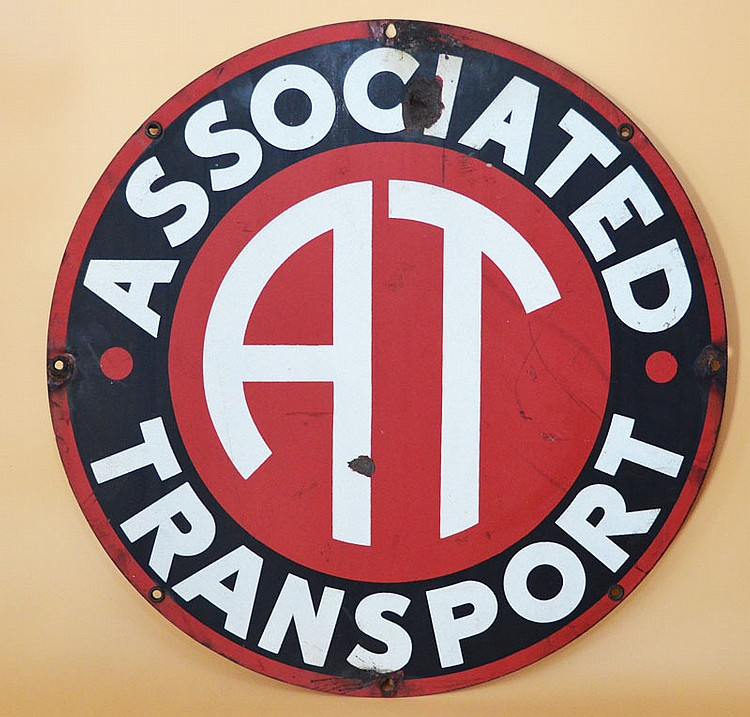 Associated Transport Enamel Metal Sign