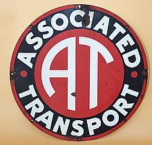 Associated Transport Enamel Metal Sign