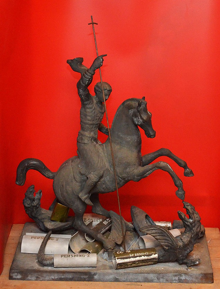 Zurab Tsereteli St. George Slaying Nuclear Dragon Bronze