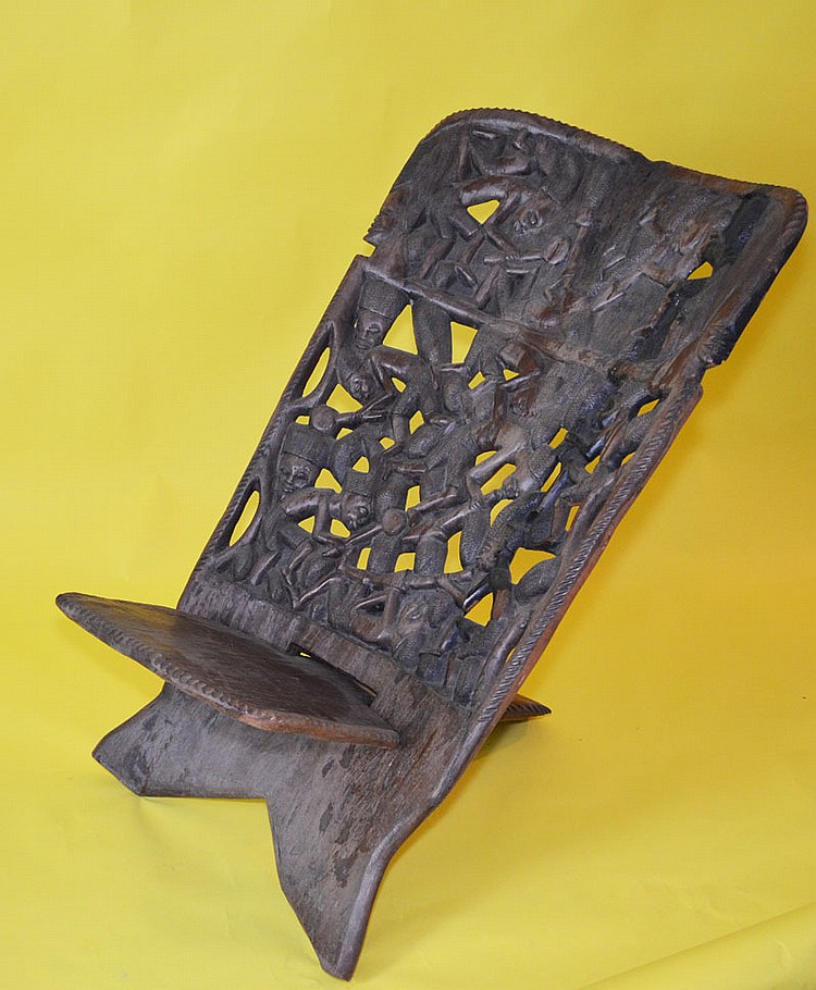 Carved African Chieftains Chair