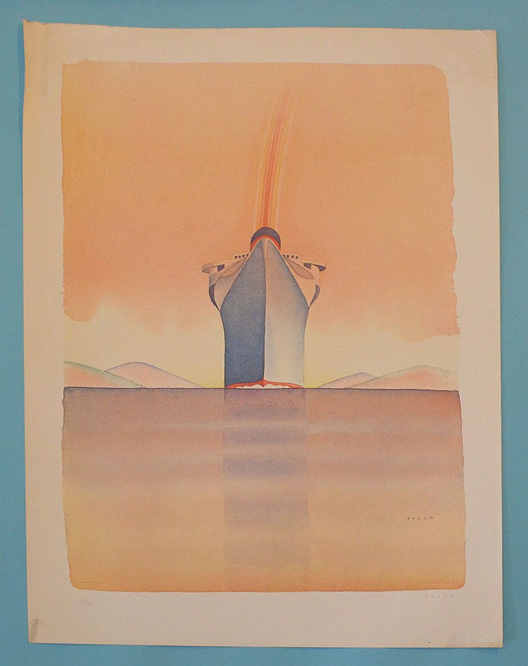 Jean Michel Folon Signed & Numbered Litho